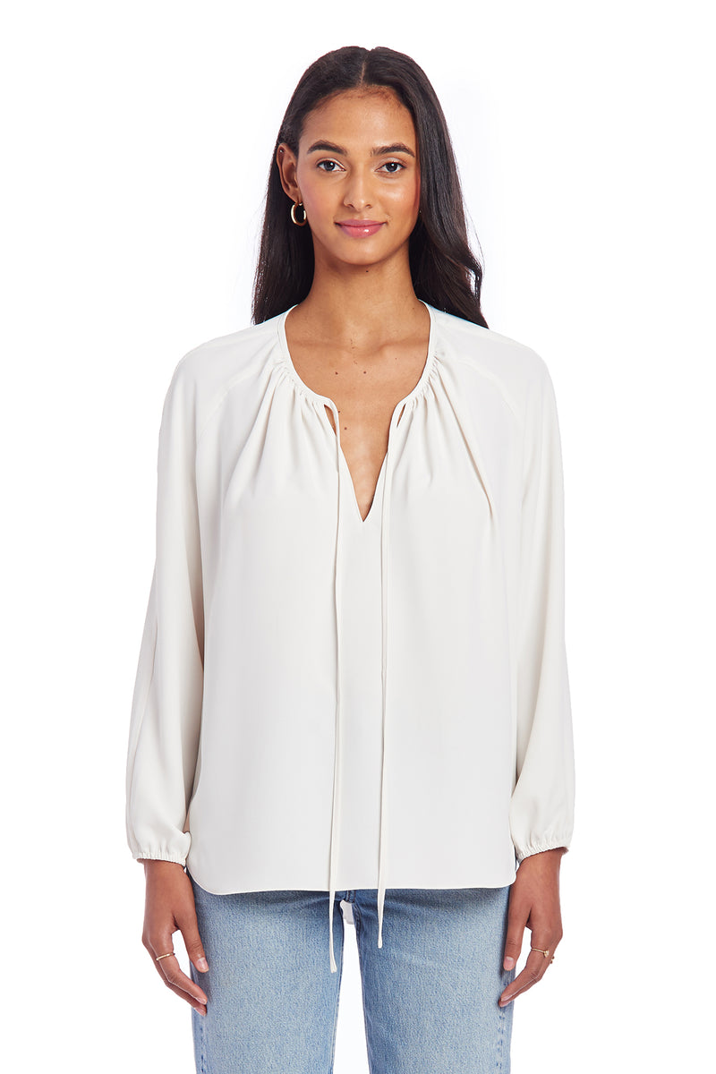 Amanda Uprichard Alessia Blouse - Ivory | Women's Blouse