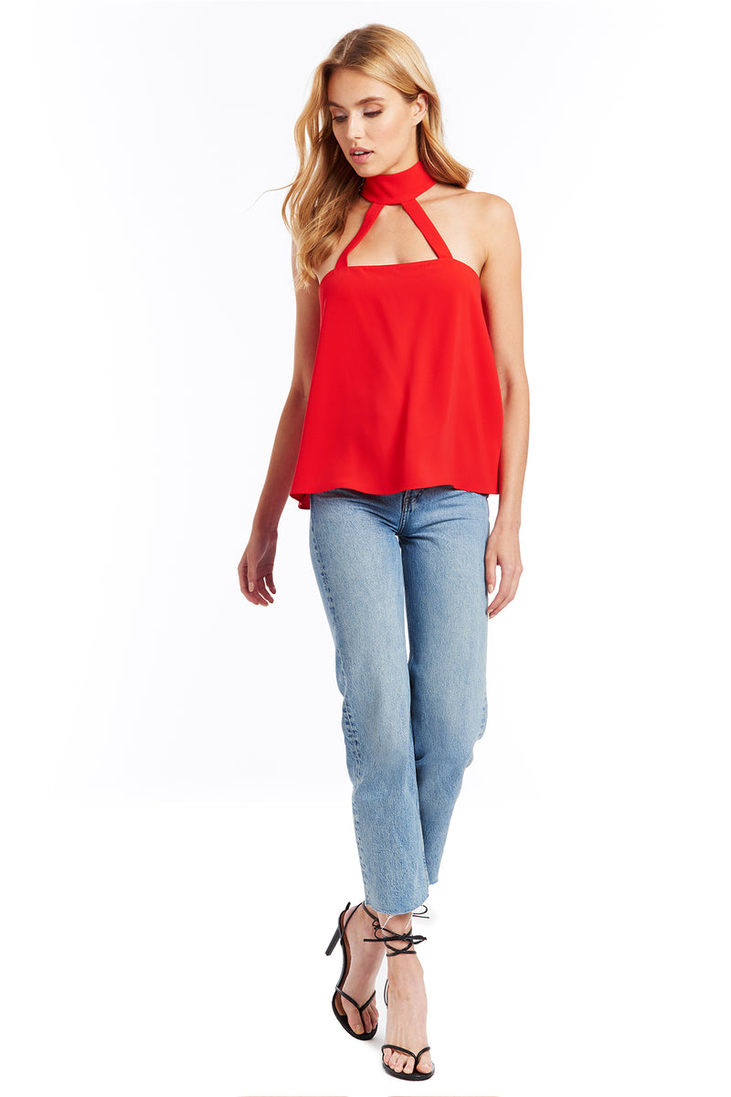 Amanda Uprichard Alexandra Top - Poppy | Women's Tops