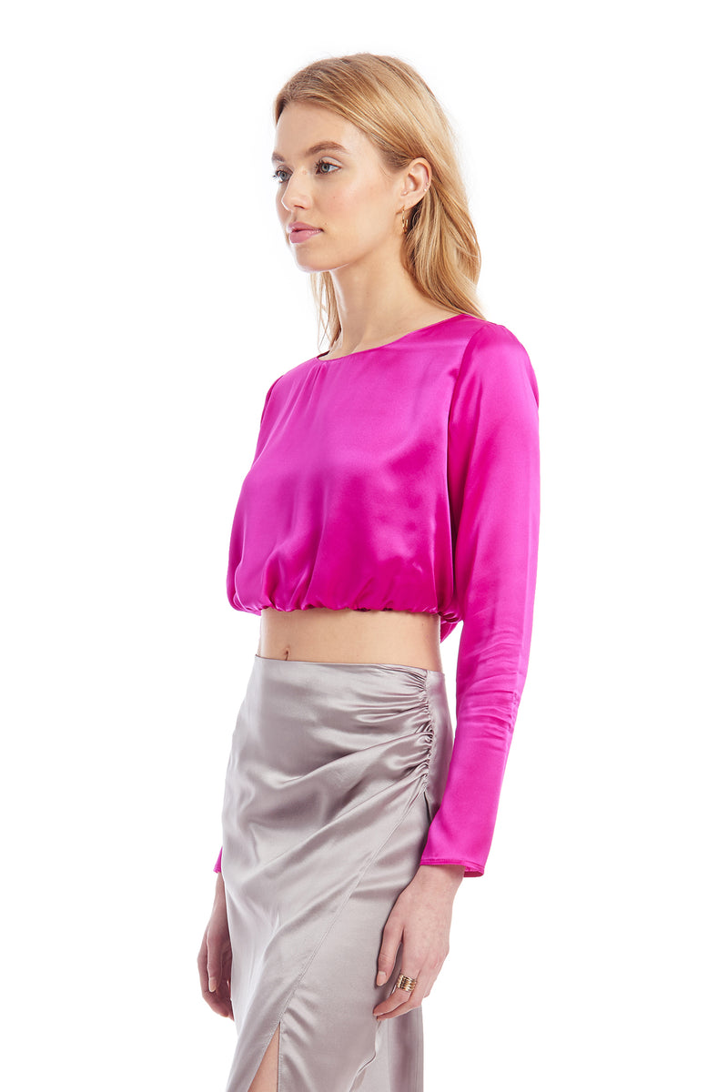 Amanda Uprichard Alfie Top - Hot Pink | Women's Tops