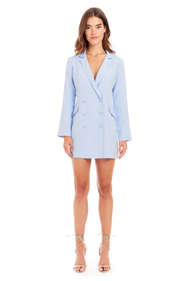Amanda Uprichard Alix Blazer Dress - Blue | Women's Dresses