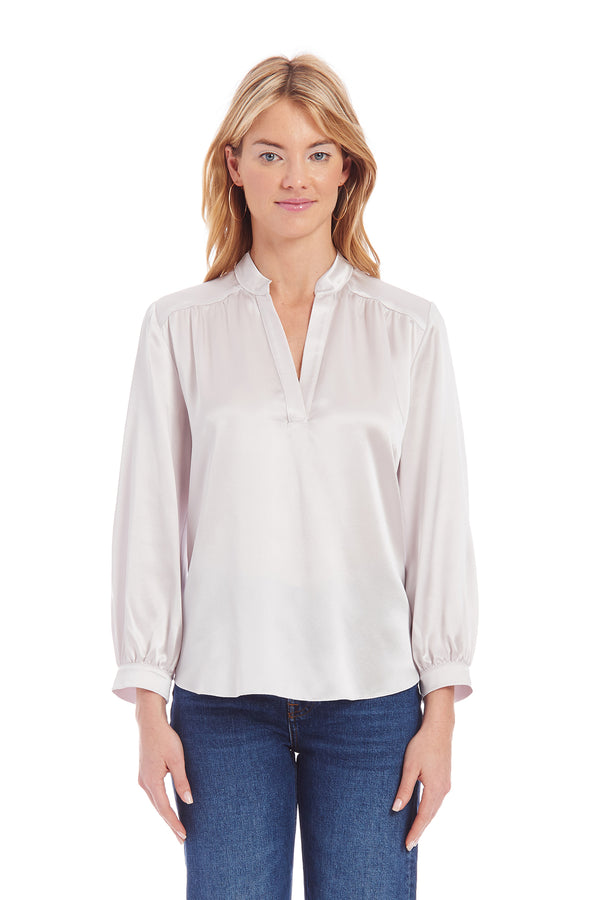 Amanda Uprichard Silk Always Top - White | Women's Tops