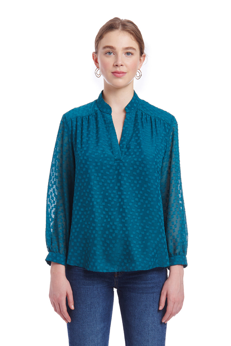 Amanda Uprichard Always Top - Teal | Women's Tops
