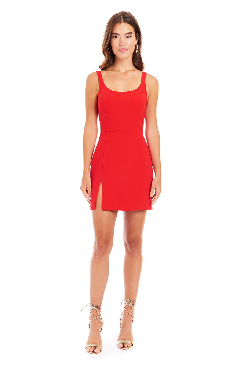 Amanda Uprichard Amabella Dress - Red | Women's Dresses