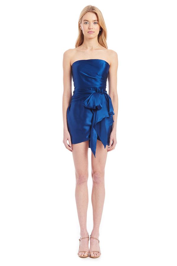 Amanda Uprichard Ambrose Silk Dress - Dark Blue | Women's Dresses