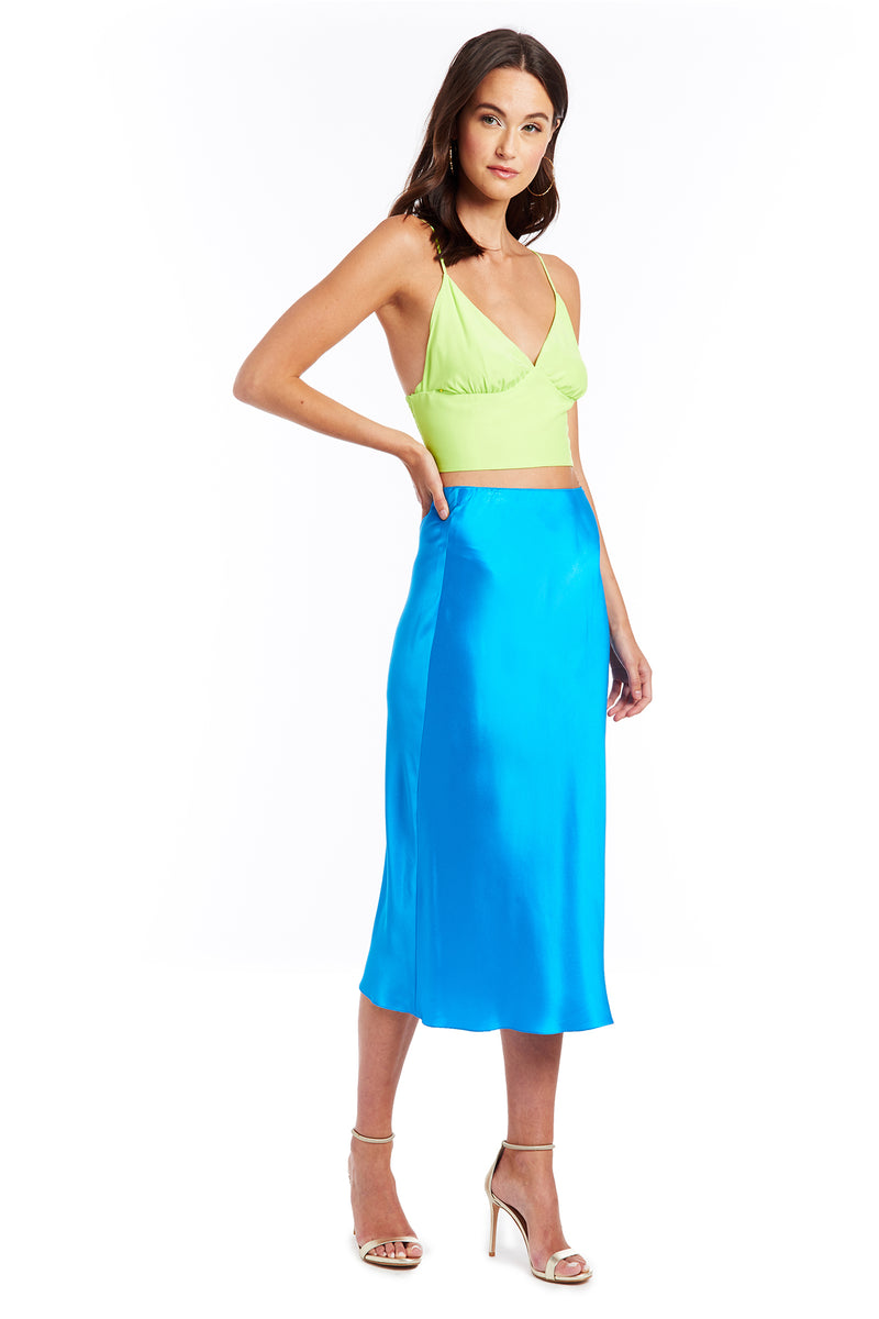Amanda Uprichard Amory Crop Top - Limeade | Women's Tops