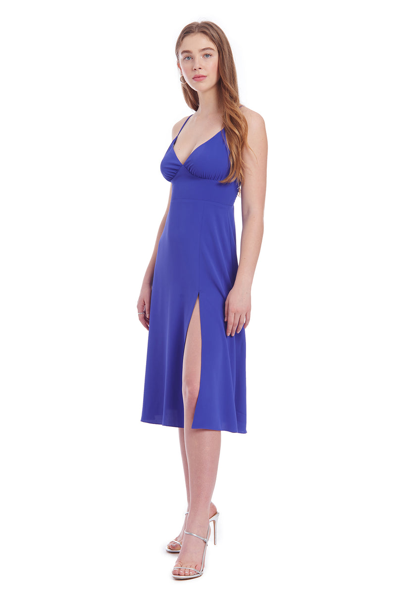 Amanda Uprichard Amory Midi - Nu Blue | Women's Dresses