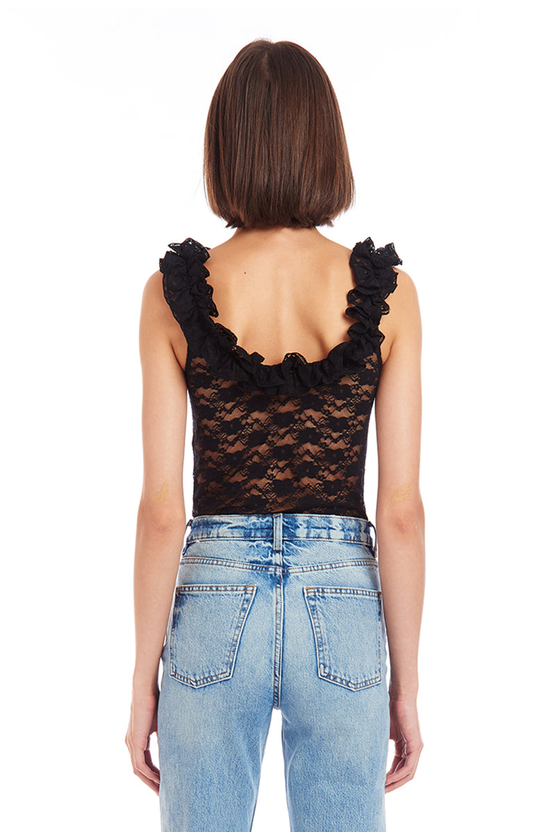 Amanda Uprichard Antonio Bodysuit - Black | Women's Tops