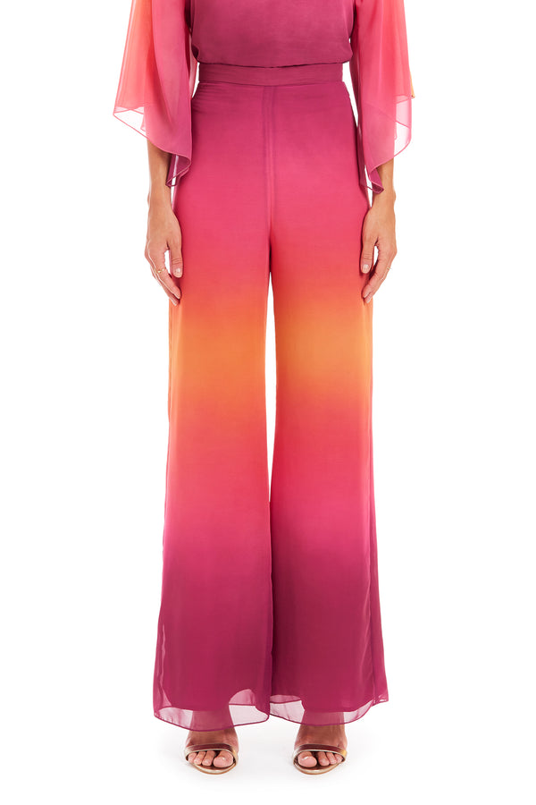 Amanda Uprichard Ariya Pants - Pink Ombre | Women's Bottoms