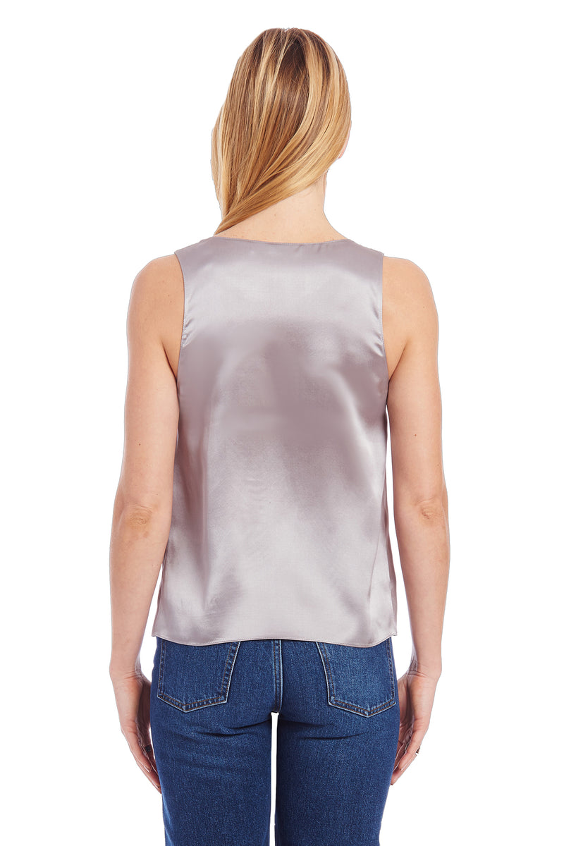 Amanda Uprichard Astra Tank - Grey | Women's Tops