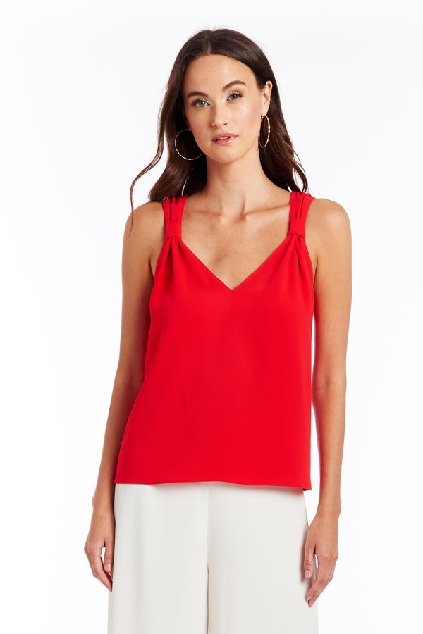 Amanda Uprichard Astra Tank - Red | Women's Tops