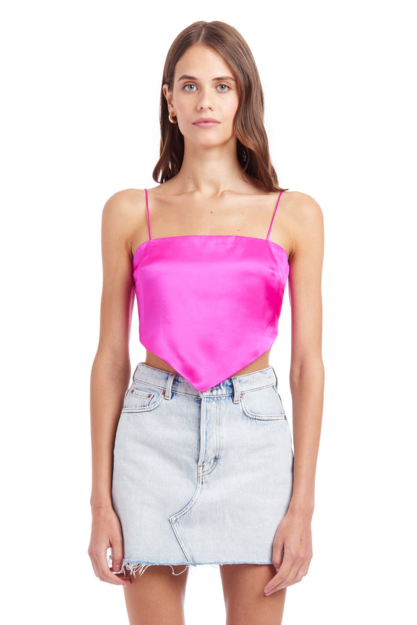 Amanda Uprichard Atlanta Top - Hot Pink | Women's Tops