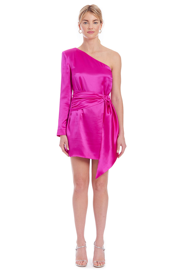 Amanda Uprichard Aubrianna Dress - Hot Pink | Women's Dresses