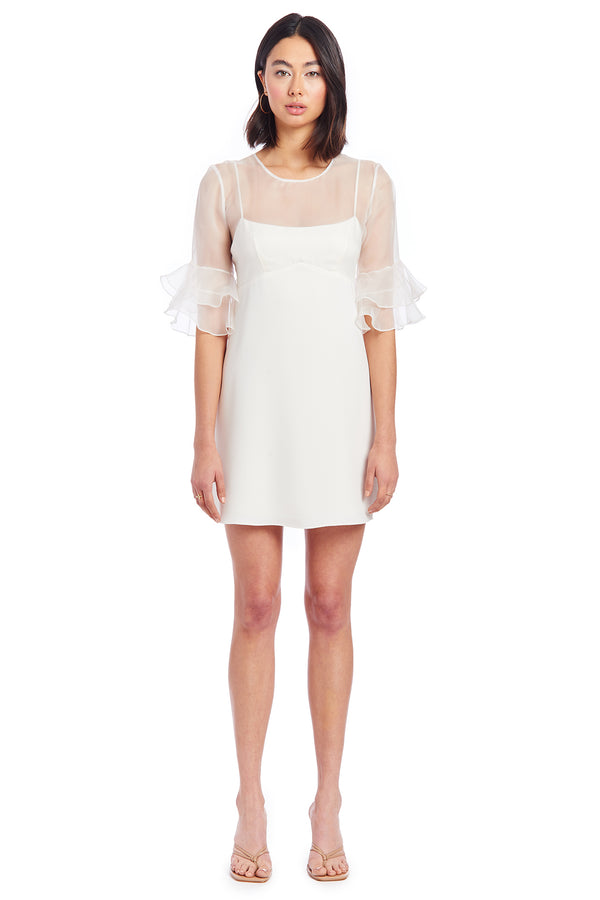 Amanda Uprichard Aveline Dress- White | Women's Dresses