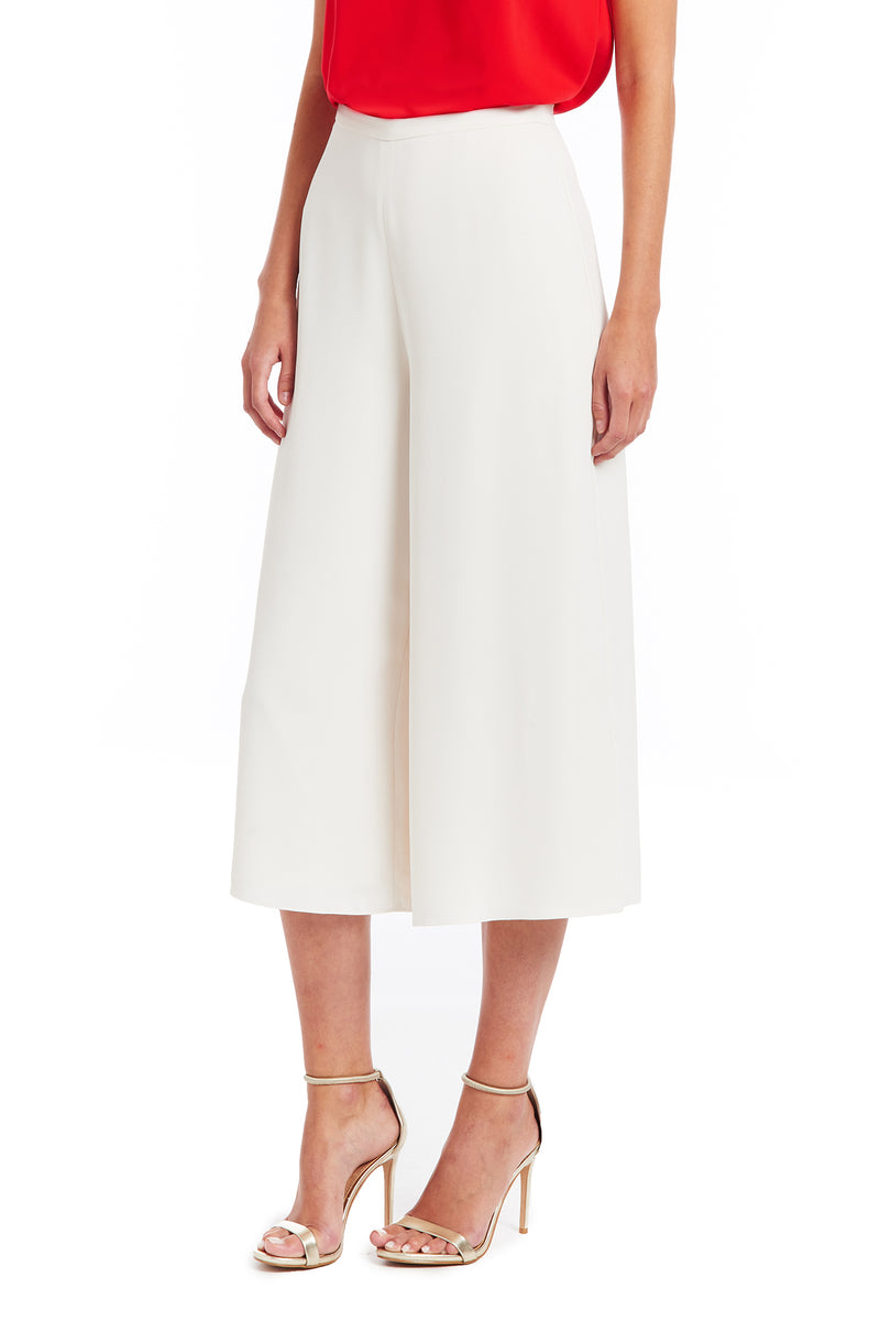 Amanda Uprichard Aviva Pants - Ivory | Women's Bottoms