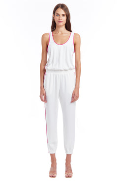Amanda Uprichard Beacon Jumpsuit - Ivory | Women's Jumpsuits