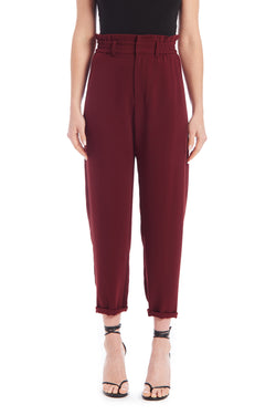 Amanda Uprichard Beekman Pants - Dark Red | Women's Pants