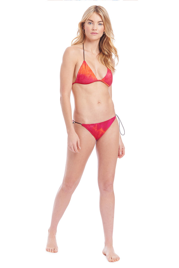 Amanda Uprichard Belmar Triangle Top - Pink Tie Dye | Women's Swim