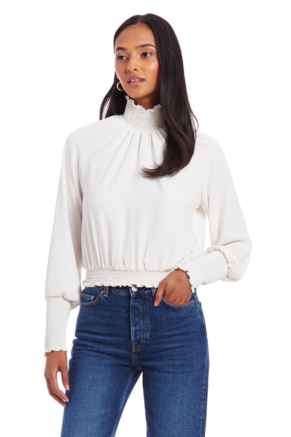 Amanda Uprichard Bentley Top - Ivory | Women's Tops