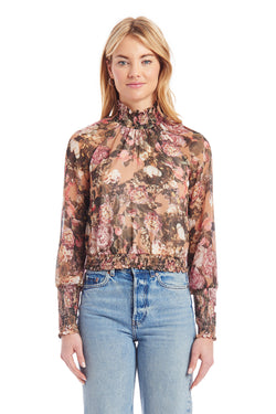 Amanda Uprichard Bentley Top - Floral Multi | Women's Tops