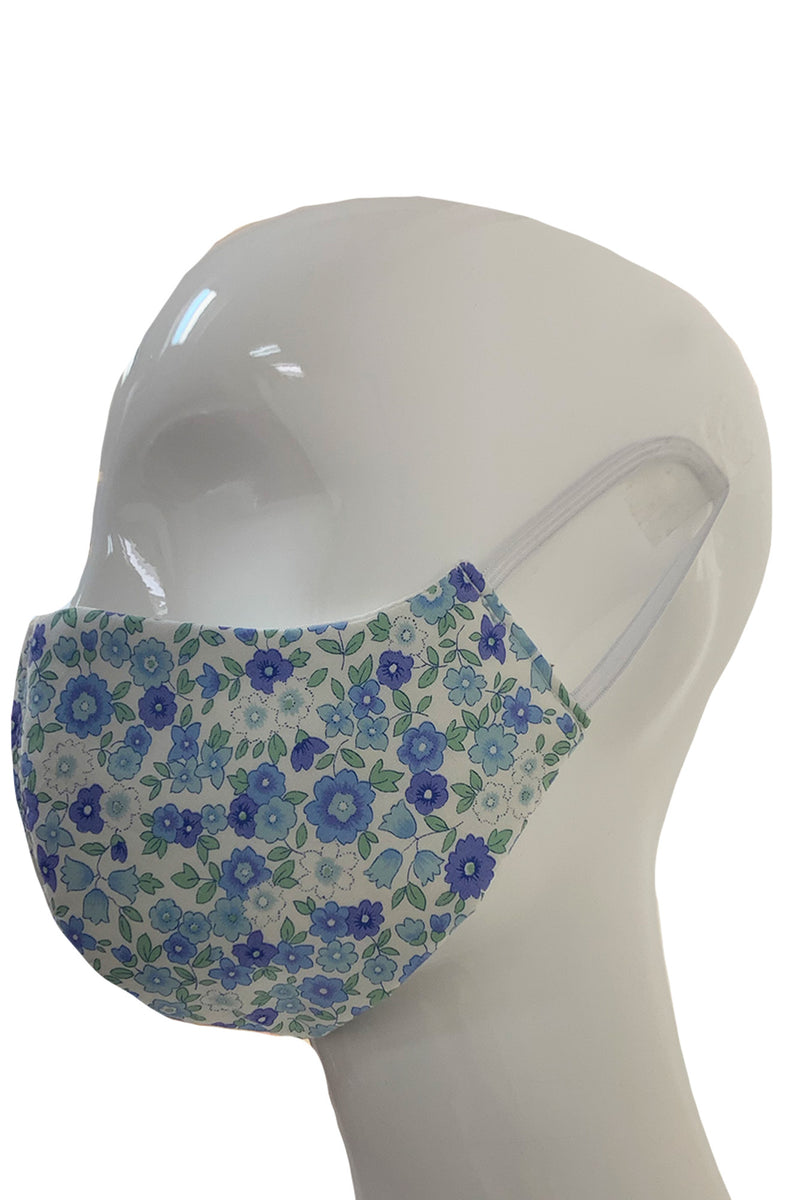 Fashion Face Mask - Blue Floral