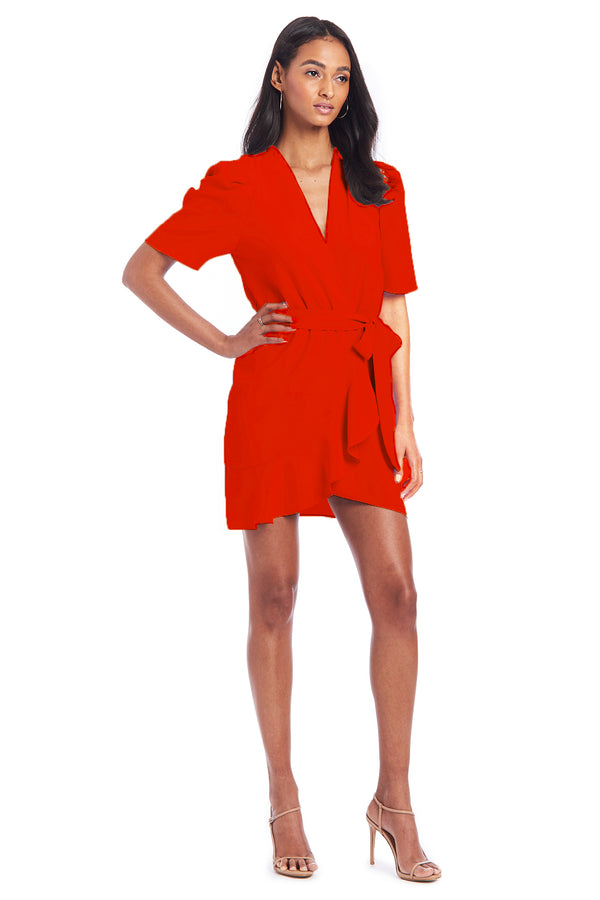 Amanda Uprichard Bonjour Mini Dress - Red | Women's Dresses