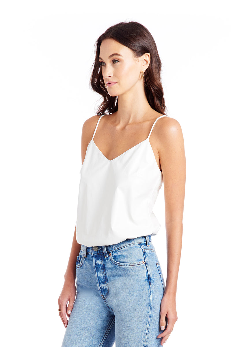 Amanda Uprichard Bourbon Bodysuit - White | Women's Tops