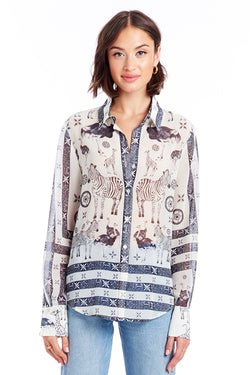 Amanda Uprichard Bridgeport Top - Zoo Print | Women's Tops