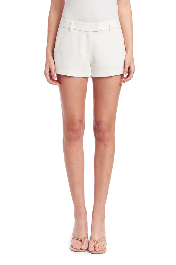 Amanda Uprichard Brooklyn Short - Ivory | Women's Shorts
