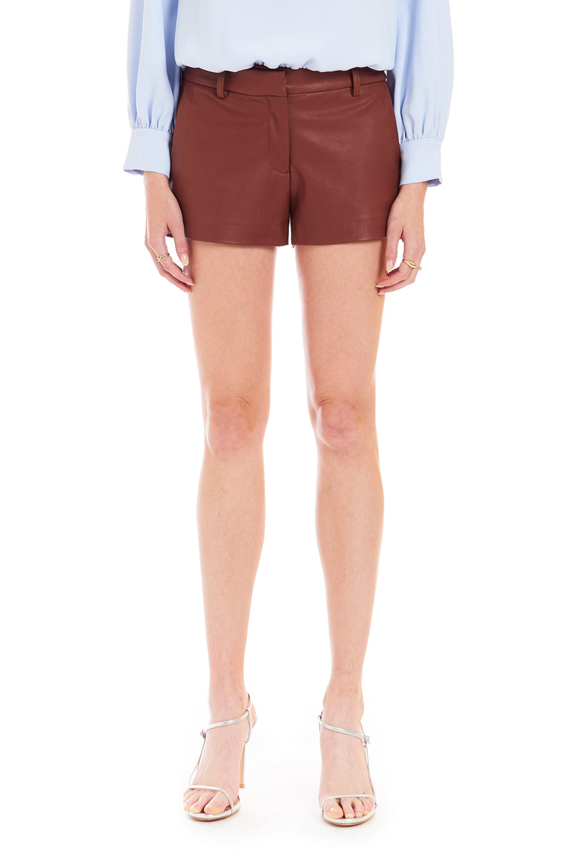 Brooklyn Shorts in Faux Leather
