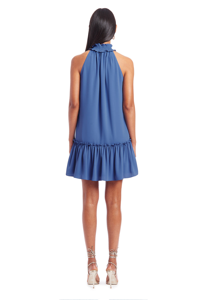 Amanda Uprichard Bryleigh Dress- Blue | Women's Dresses