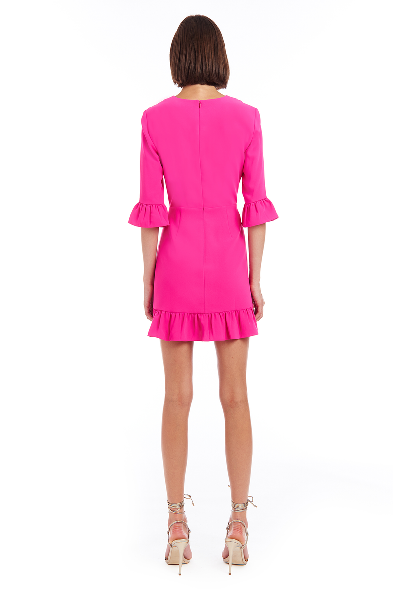 Amanda Uprichard Candice Dress - Hot Pink | Women's Dresses
