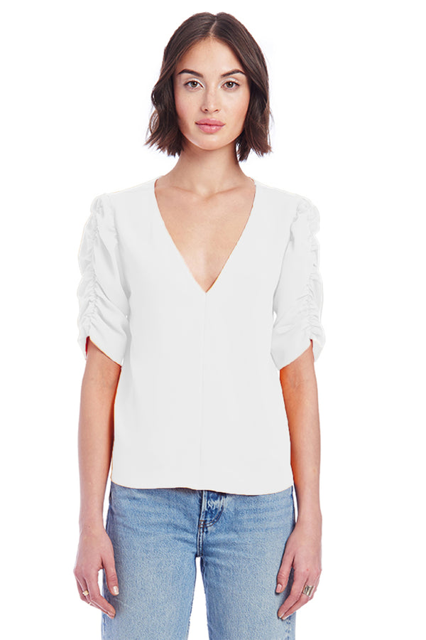 Amanda Uprichard Carlyle Top - Ivory | Women's Tops