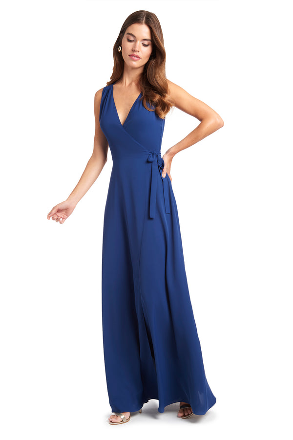 Amanda Uprichard Cassandra Gown - Navy | Women's Dresses