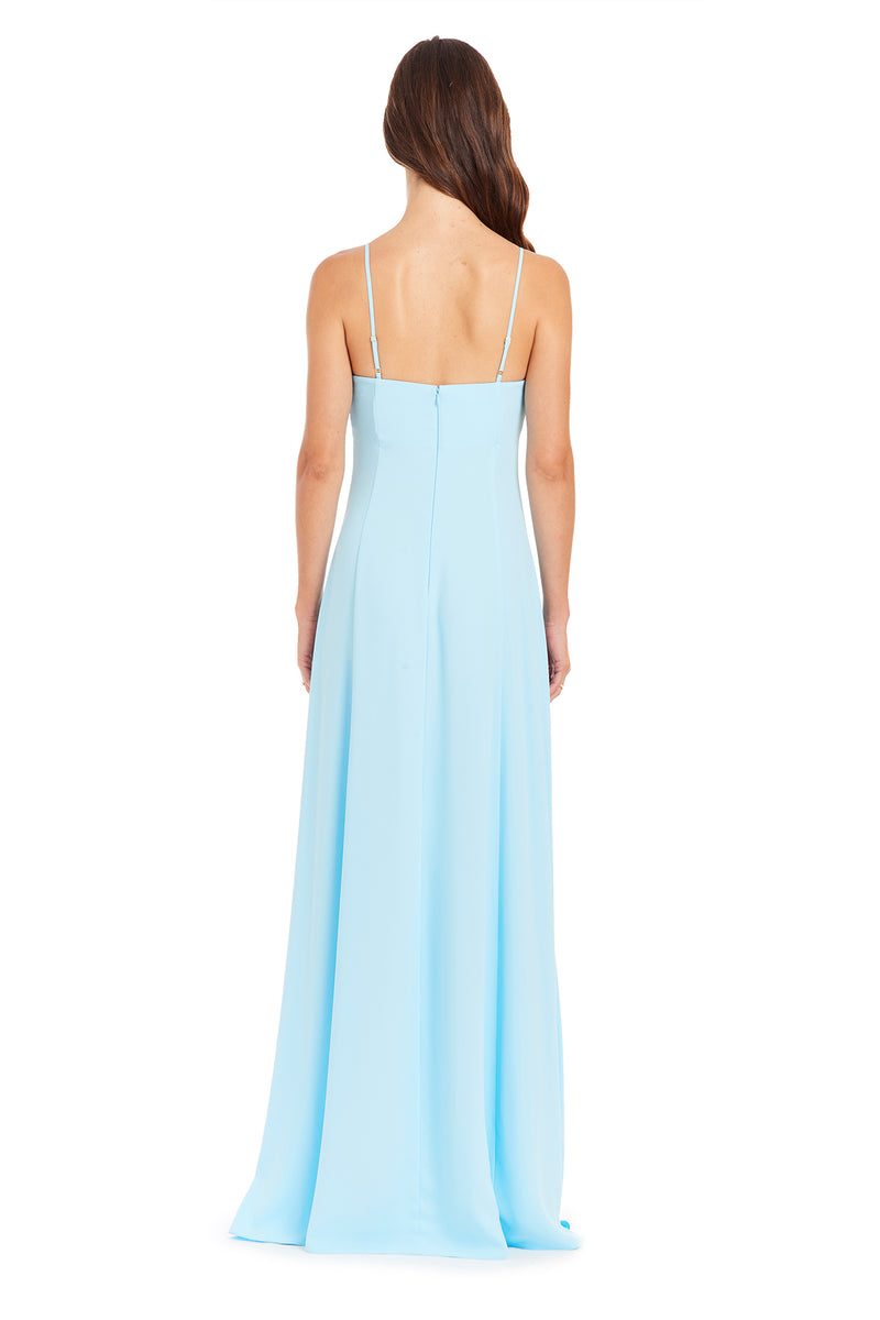 Amanda Uprichard Channing Gown - Ice Blue | Women's Dresses