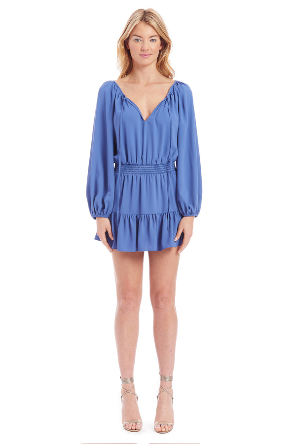Amanda Uprichard Charleigh Dress- Blue | Women's Dresses