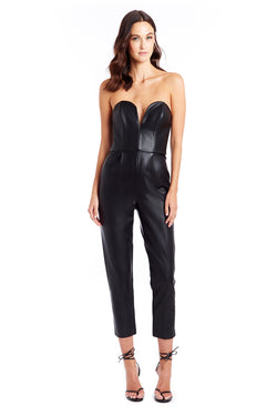 Cherri Jumpsuit - Faux Leather | Women's Jumpsuits & Rompers | Amanda Uprichard