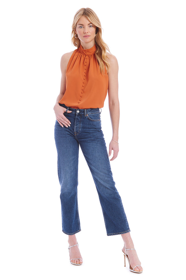 Amanda Uprichard Cole Top - Orange | Women's Tops