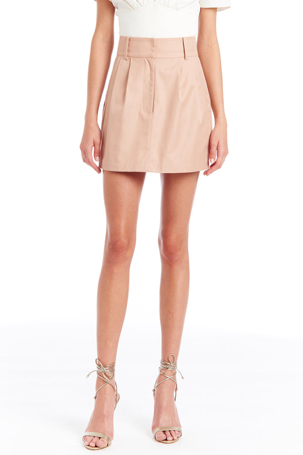 Amanda Uprichard Conrad Skirt - Beige | Women's Bottoms