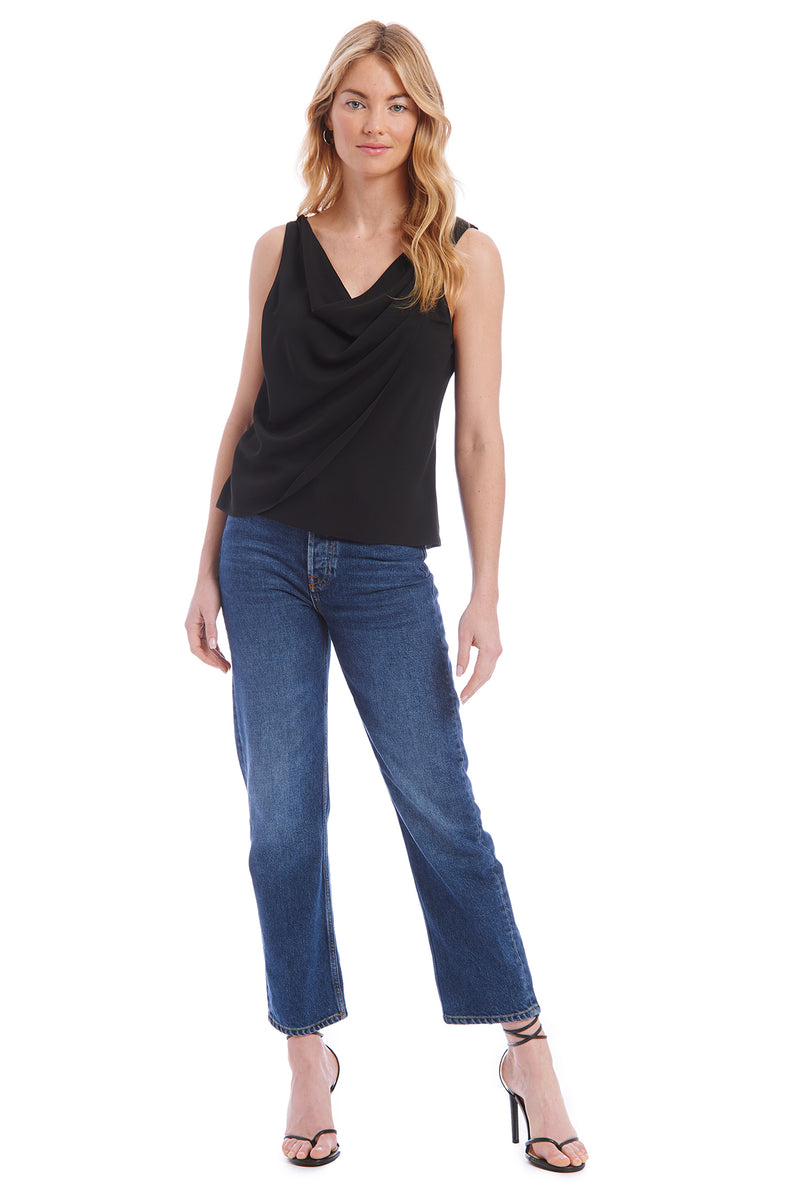 Amanda Uprichard Danae Top - Black | Women's Tops