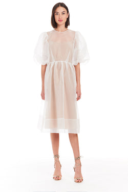 Amanda Uprichard Diem Midi Dress - Ivory | Women's Dresses
