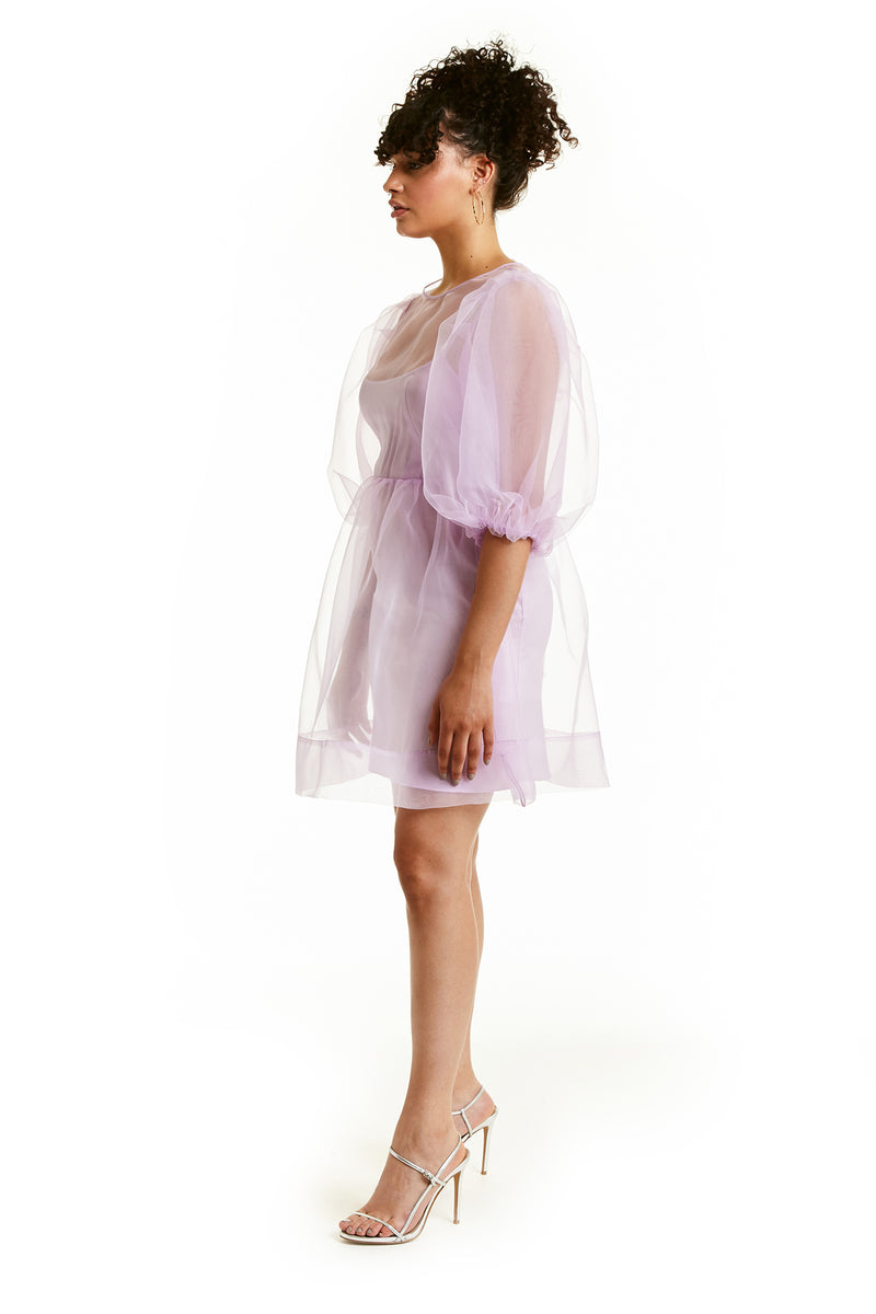 Amanda Uprichard Diem Mini Dress - Lilac | Women's Dresses