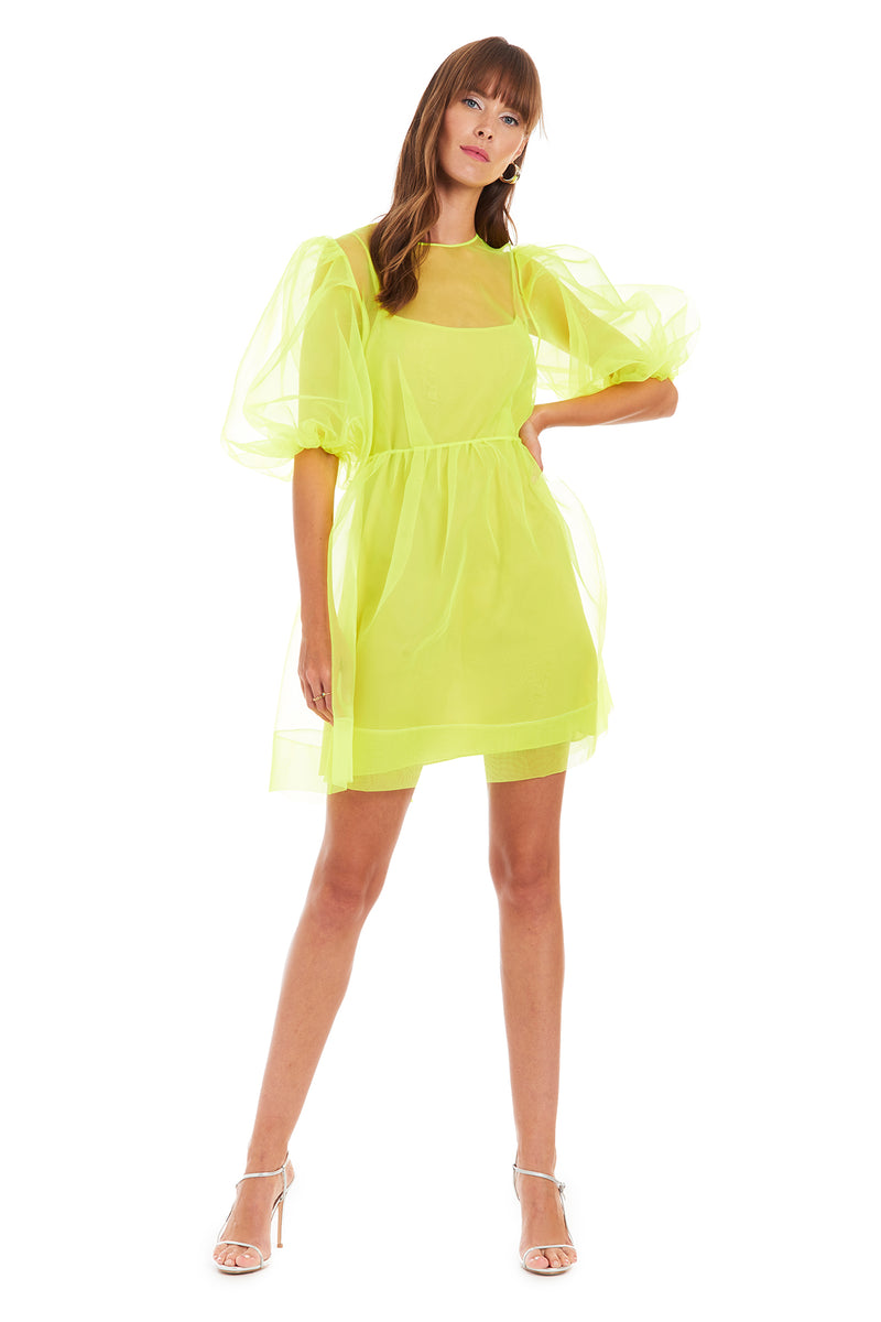 Amanda Uprichard Diem Mini Dress - Lime | Women's Dresses  Edit alt text
