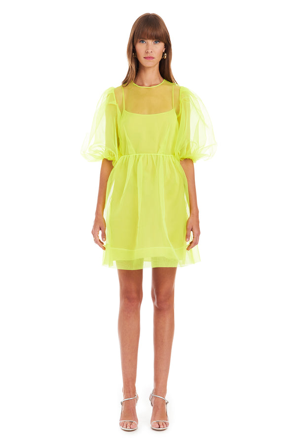 Amanda Uprichard Diem Mini Dress - Lime | Women's Dresses