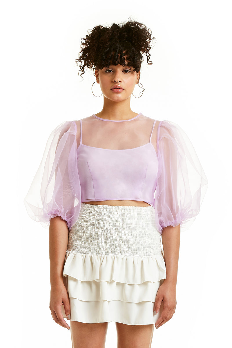 Amanda Uprichard Diem Top - Lilac | Women's Tops