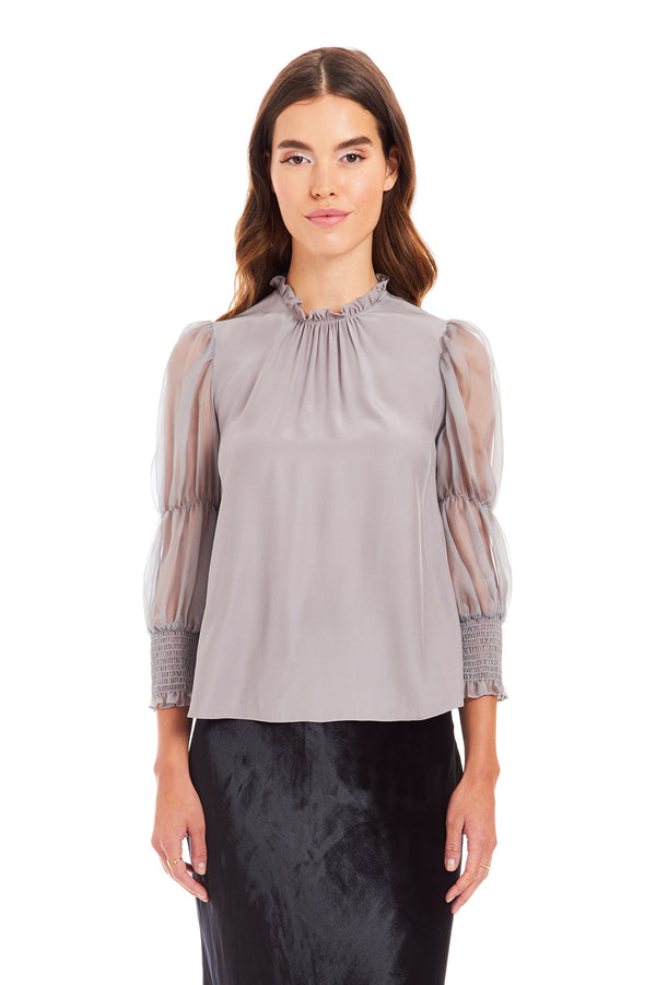 Amanda Uprichard Dionne Top - Grey | Women's Top