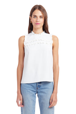 Amanda Uprichard Dottie Top - Ivory | Women's Tops