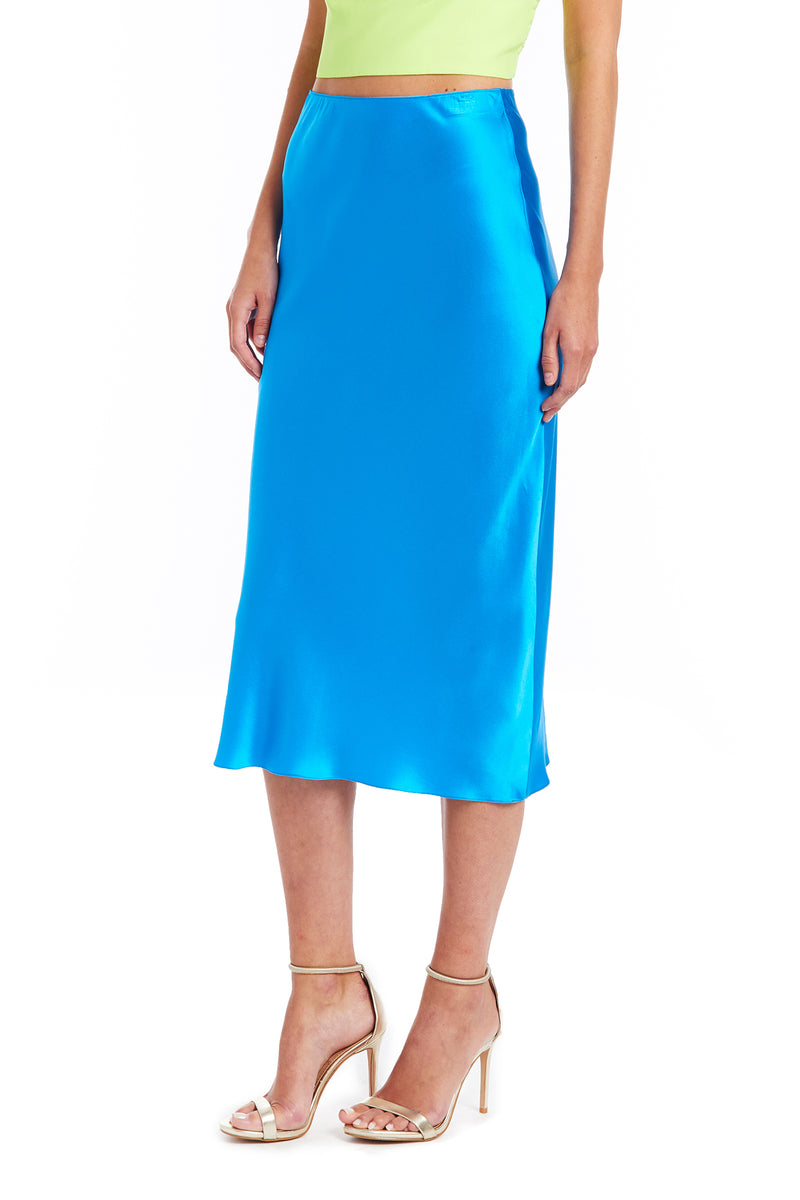 Amanda Uprichard Edie Skirt - Blue | Women's Bottoms