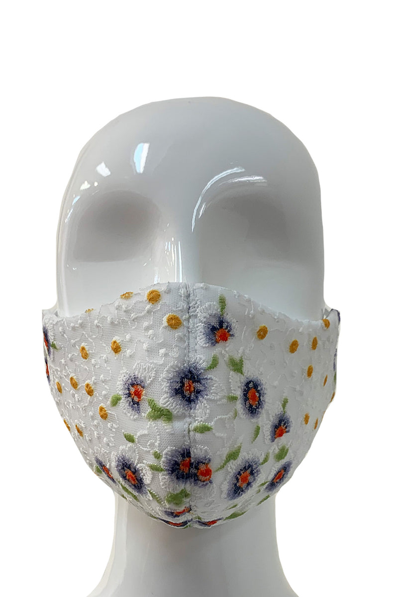 Fashion Face Mask - Embroidered Floral
