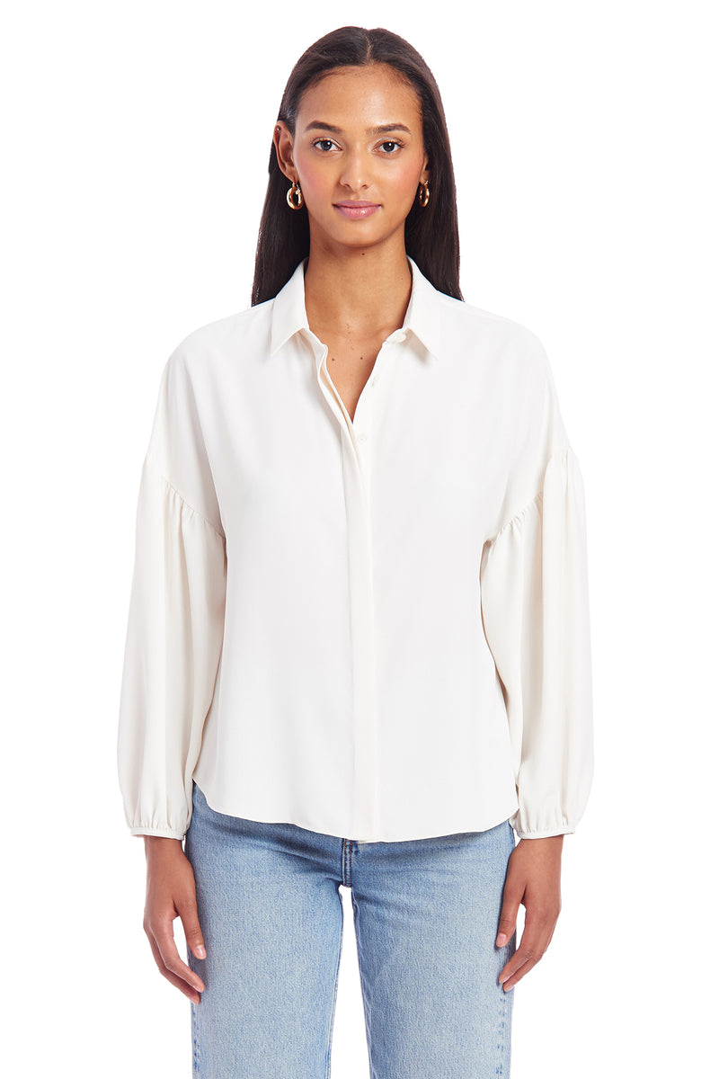 Amanda Uprichard Essence Top - Ivory | Women's Tops