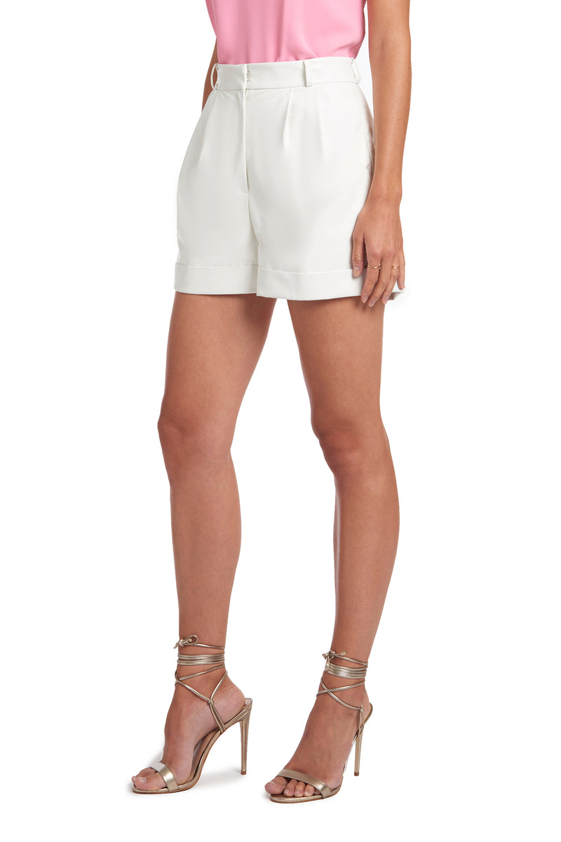 Amanda Uprichard Everette Shorts - White | Women's Bottoms
